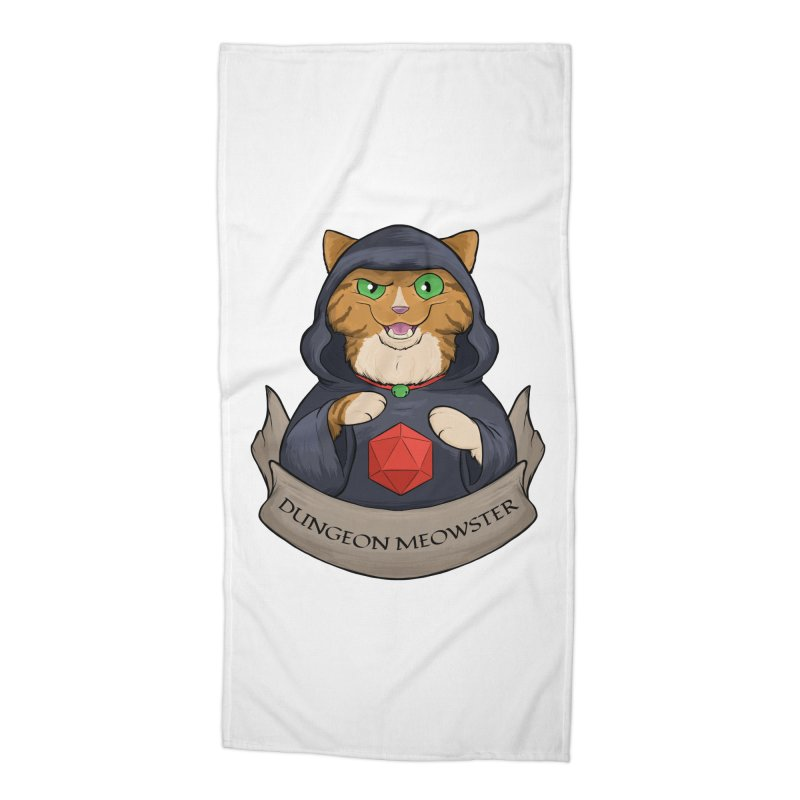 Dungeon Meowster Tabby Kitty Accessories Beach Towel by DnDoggos's Artist Shop