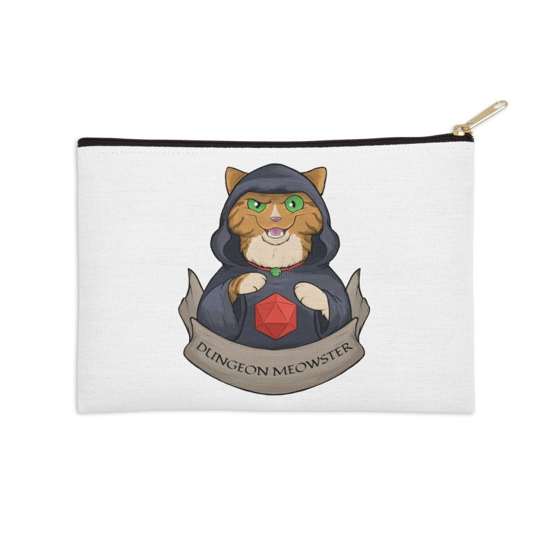 Dungeon Meowster Tabby Kitty Accessories Zip Pouch by DnDoggos's Artist Shop