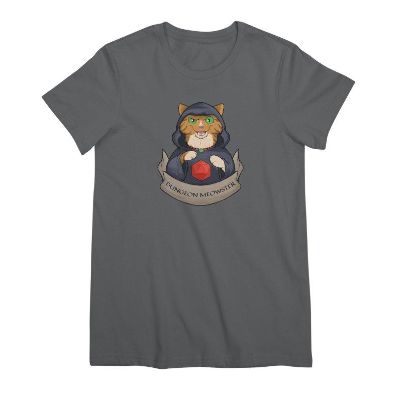 Dungeon Meowster Tabby Kitty Women's Premium T-Shirt by DnDoggos's Artist Shop