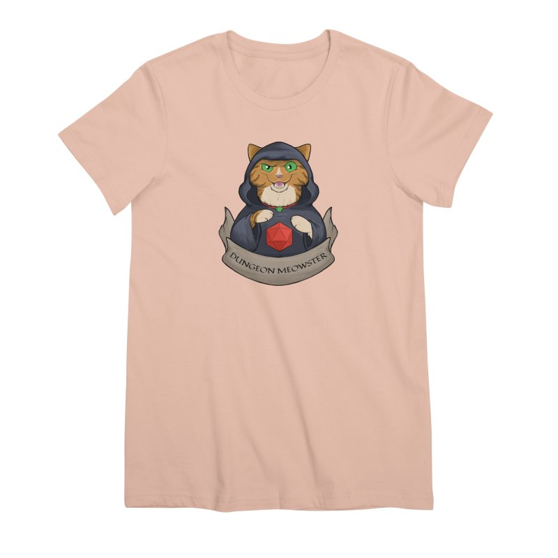 Dungeon Meowster Tabby Kitty Women's Premium T-Shirt by DnDoggos's Artist Shop