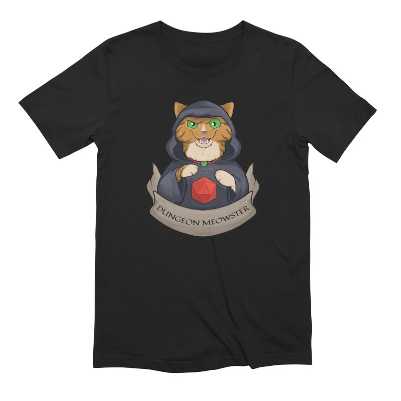 Dungeon Meowster Tabby Kitty Men's Extra Soft T-Shirt by DnDoggos's Artist Shop