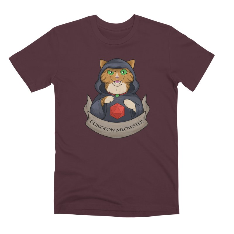 Dungeon Meowster Tabby Kitty Men's Premium T-Shirt by DnDoggos's Artist Shop