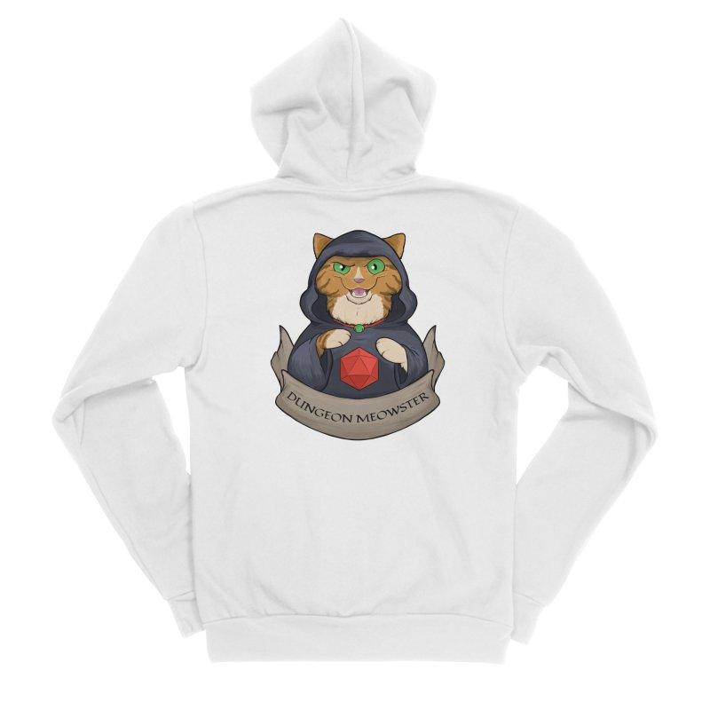 Dungeon Meowster Tabby Kitty Men's Sponge Fleece Zip-Up Hoody by DnDoggos's Artist Shop