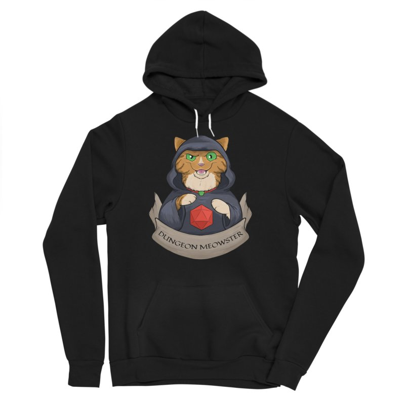 Dungeon Meowster Tabby Kitty Women's Sponge Fleece Pullover Hoody by DnDoggos's Artist Shop