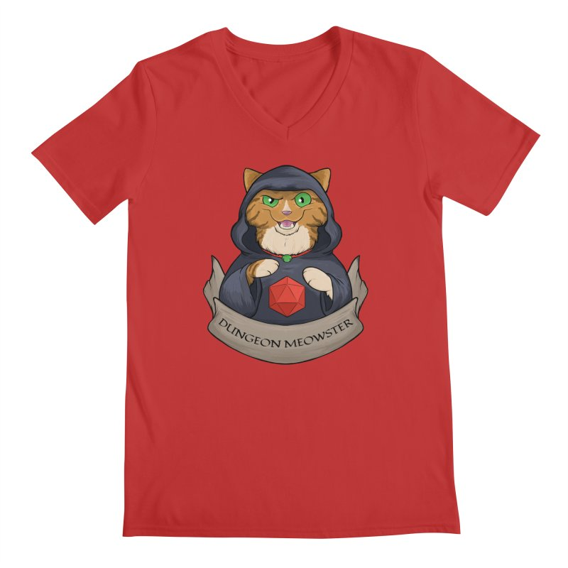 Dungeon Meowster Tabby Kitty Men's V-Neck by DnDoggos's Artist Shop