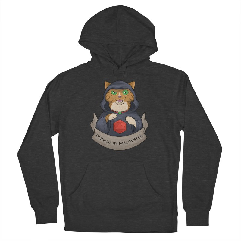 Dungeon Meowster Tabby Kitty Men's French Terry Pullover Hoody by DnDoggos's Artist Shop