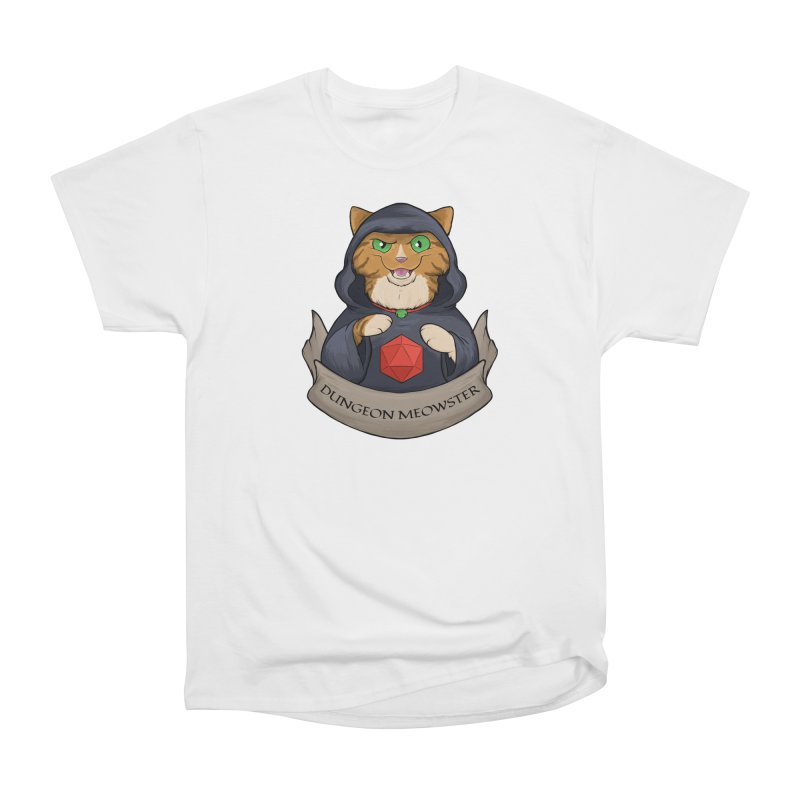 Dungeon Meowster Tabby Kitty Men's Heavyweight T-Shirt by DnDoggos's Artist Shop
