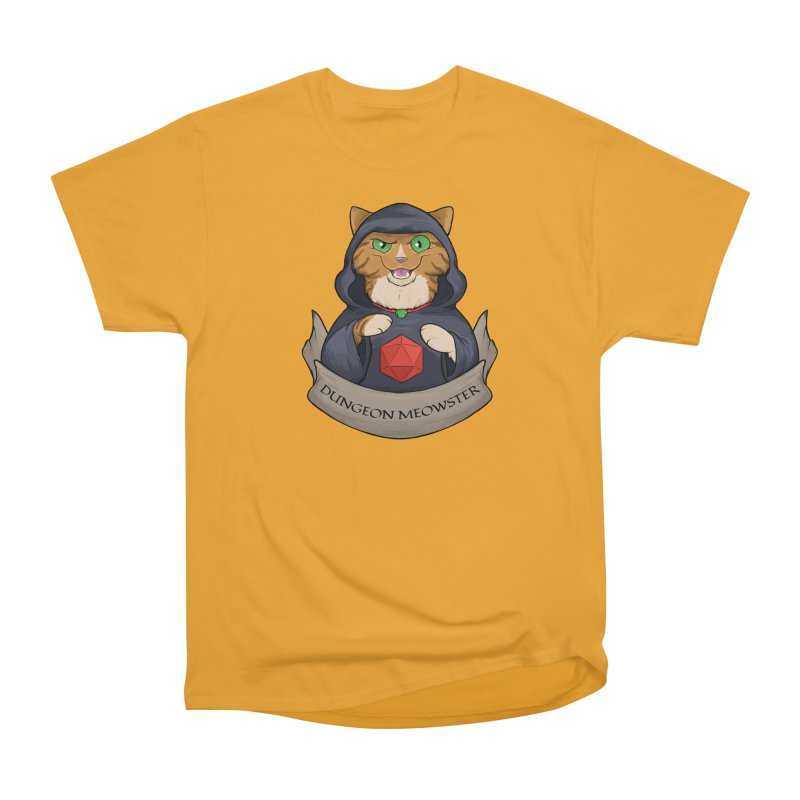 Dungeon Meowster Tabby Kitty Men's Heavyweight T-Shirt by DnDoggos's Artist Shop