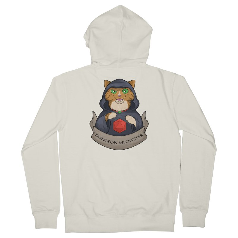 Dungeon Meowster Tabby Kitty Women's French Terry Zip-Up Hoody by DnDoggos's Artist Shop