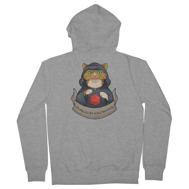 Dungeon Meowster Tabby Kitty Men's French Terry Zip-Up Hoody by DnDoggos's Artist Shop