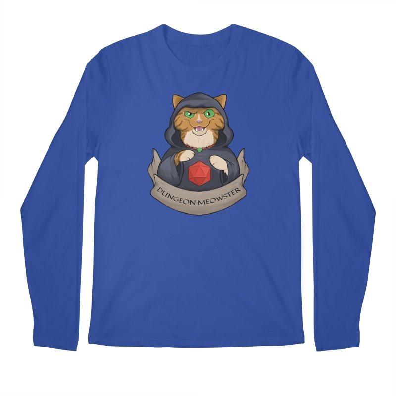 Dungeon Meowster Tabby Kitty Men's Regular Longsleeve T-Shirt by DnDoggos's Artist Shop