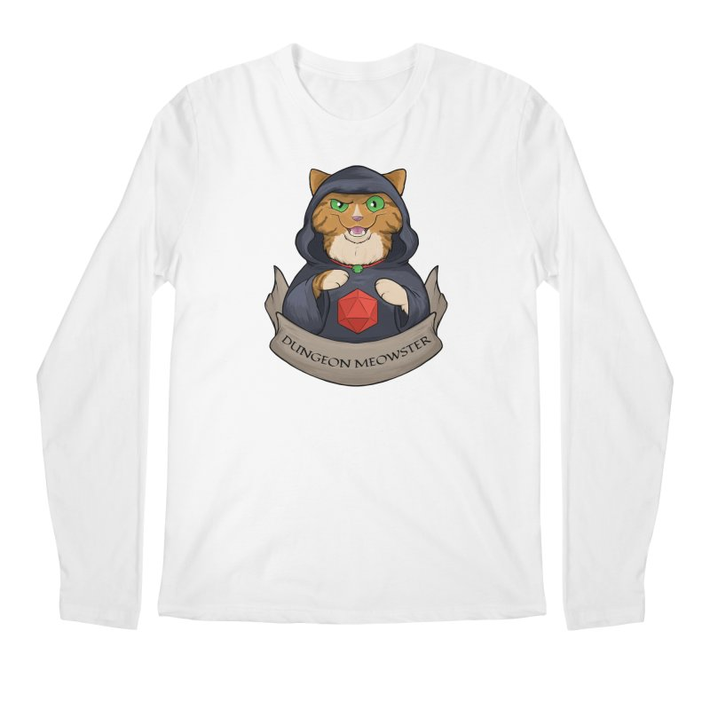 Dungeon Meowster Tabby Kitty Men's Regular Longsleeve T-Shirt by DnDoggos's Artist Shop