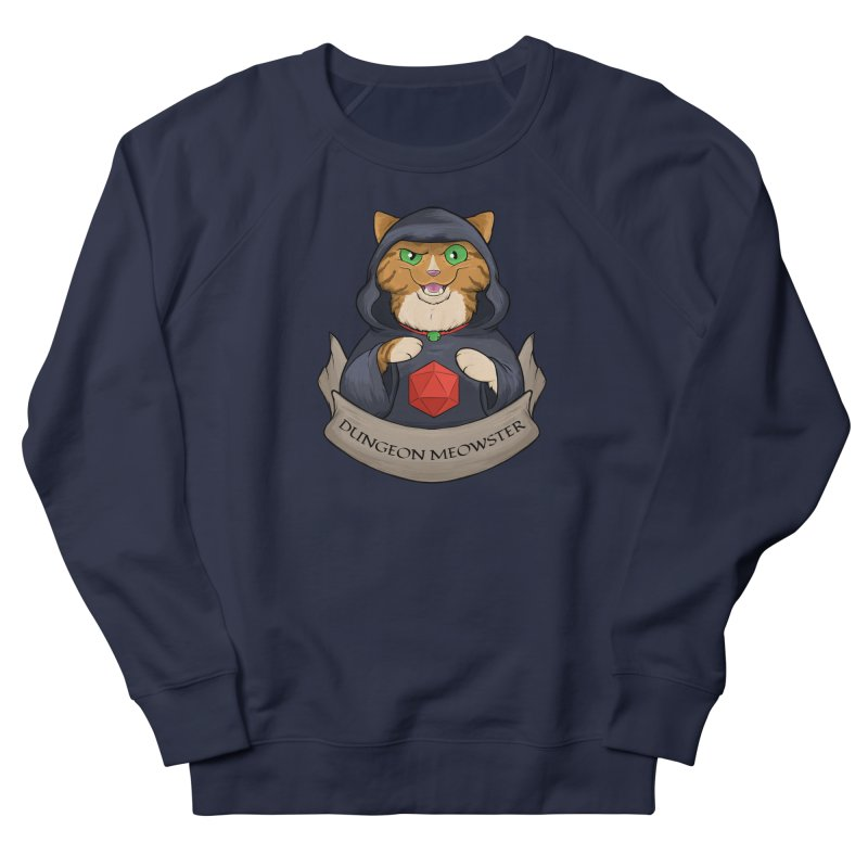Dungeon Meowster Tabby Kitty Men's French Terry Sweatshirt by DnDoggos's Artist Shop