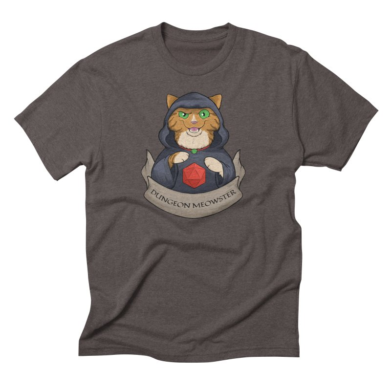 Dungeon Meowster Tabby Kitty Men's Triblend T-Shirt by DnDoggos's Artist Shop