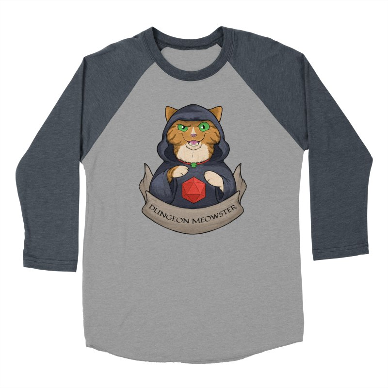 Dungeon Meowster Tabby Kitty Women's Baseball Triblend Longsleeve T-Shirt by DnDoggos's Artist Shop