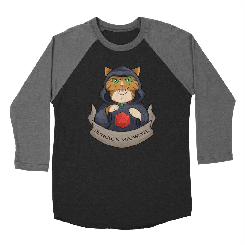 Dungeon Meowster Tabby Kitty Men's Baseball Triblend Longsleeve T-Shirt by DnDoggos's Artist Shop