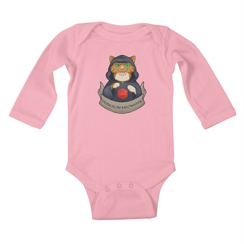 Dungeon Meowster Tabby Kitty Kids Baby Longsleeve Bodysuit by DnDoggos's Artist Shop
