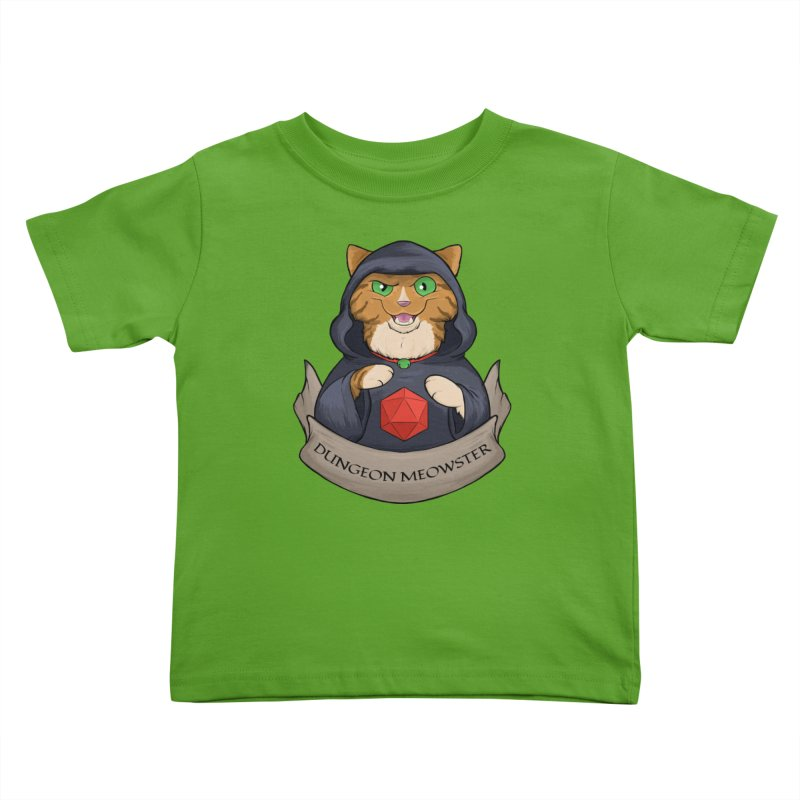 Dungeon Meowster Tabby Kitty Kids Toddler T-Shirt by DnDoggos's Artist Shop