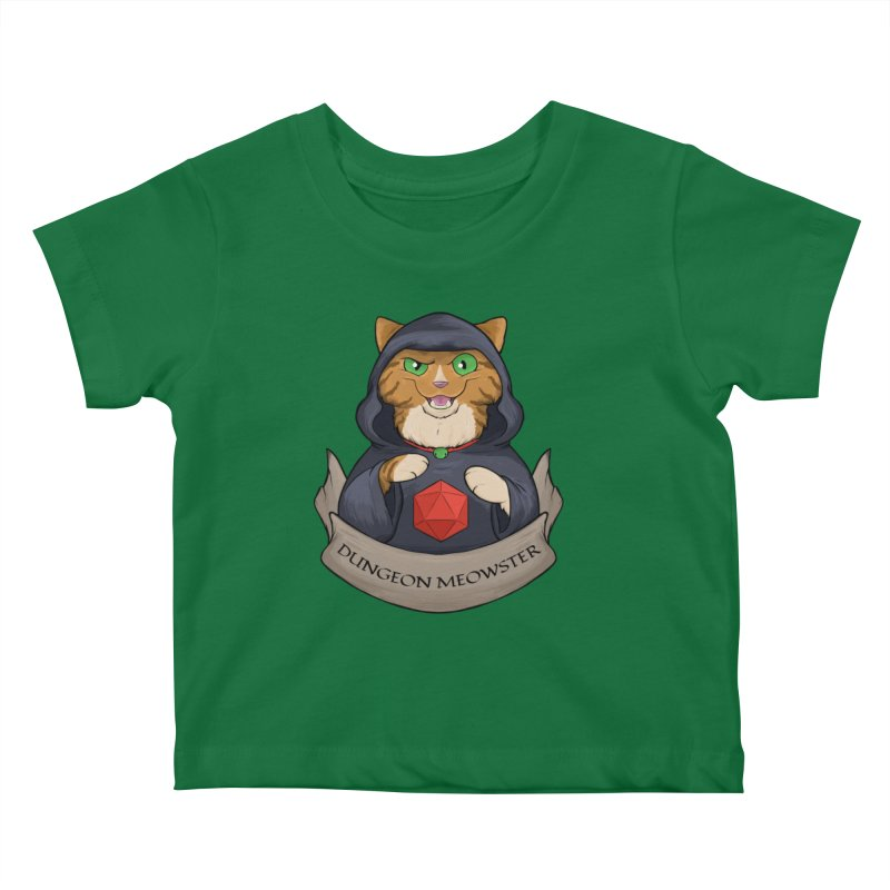 Dungeon Meowster Tabby Kitty Kids Baby T-Shirt by DnDoggos's Artist Shop
