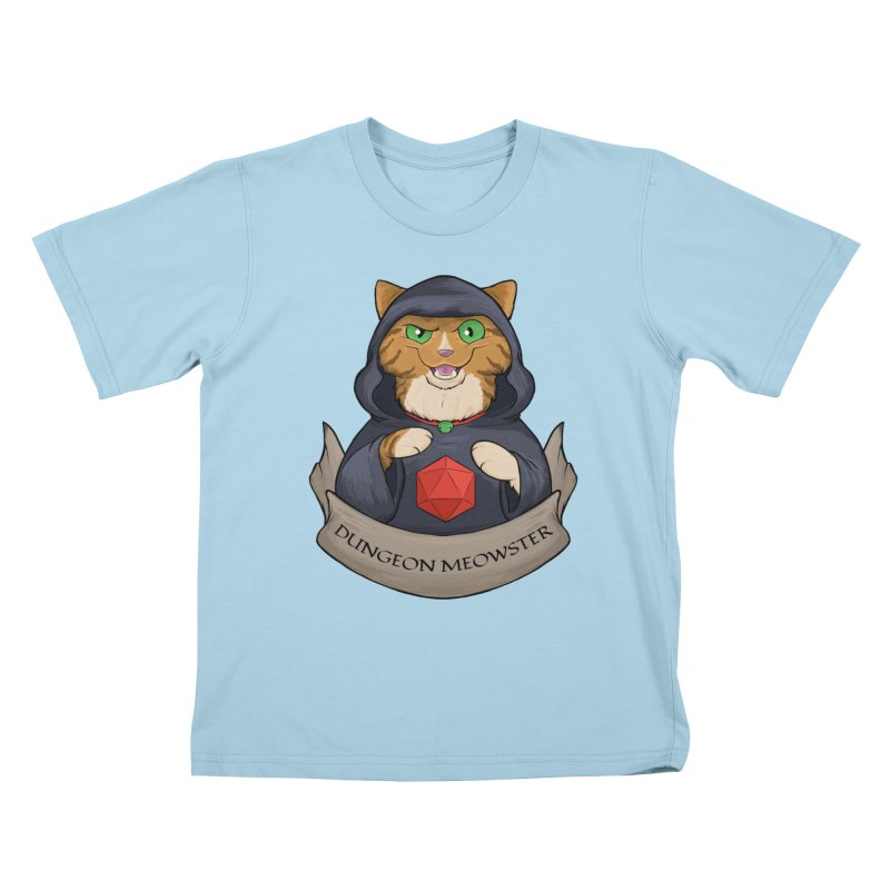 Dungeon Meowster Tabby Kitty Kids T-Shirt by DnDoggos's Artist Shop