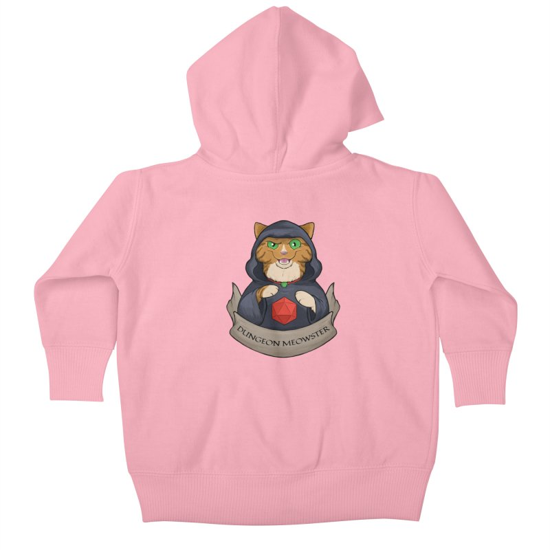 Dungeon Meowster Tabby Kitty Kids Baby Zip-Up Hoody by DnDoggos's Artist Shop