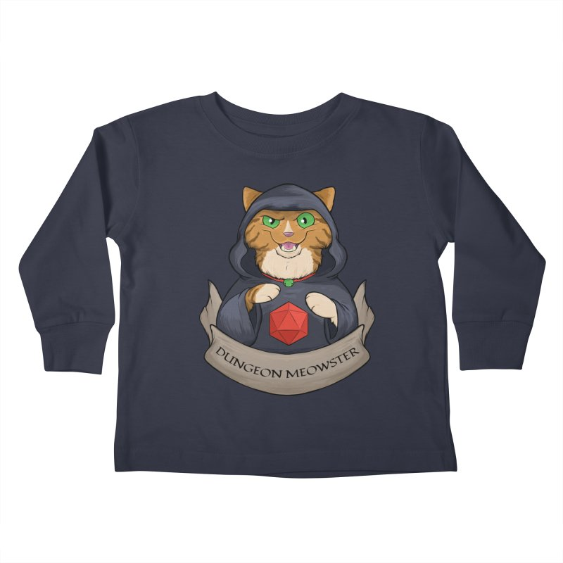 Dungeon Meowster Tabby Kitty Kids Toddler Longsleeve T-Shirt by DnDoggos's Artist Shop