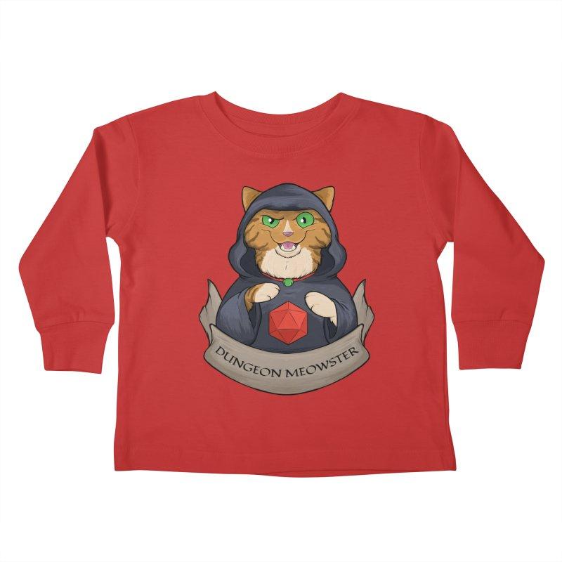 Dungeon Meowster Tabby Kitty Kids Toddler Longsleeve T-Shirt by DnDoggos's Artist Shop