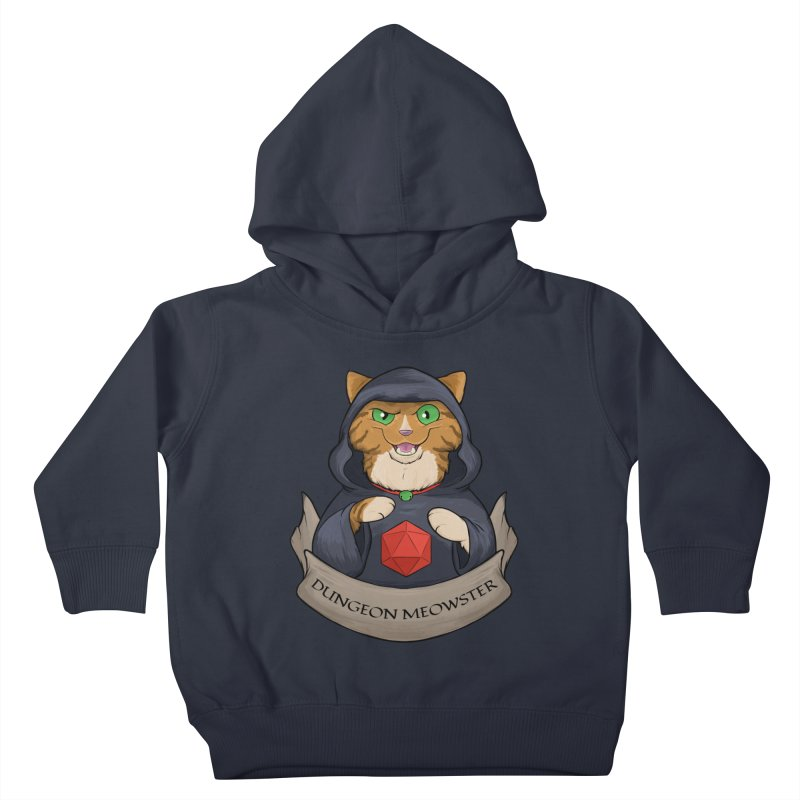 Dungeon Meowster Tabby Kitty Kids Toddler Pullover Hoody by DnDoggos's Artist Shop