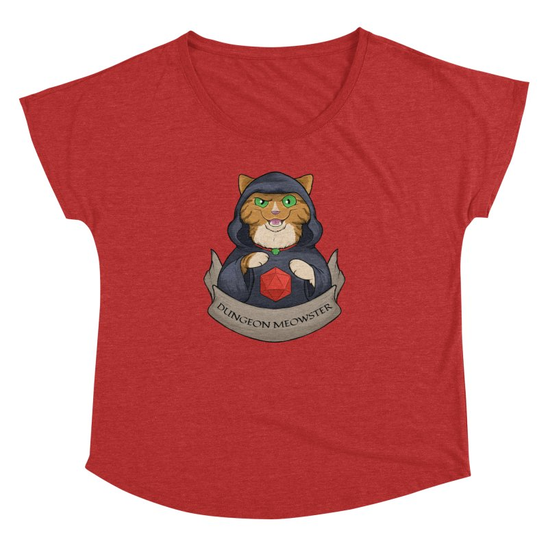 Dungeon Meowster Tabby Kitty Women's Dolman Scoop Neck by DnDoggos's Artist Shop