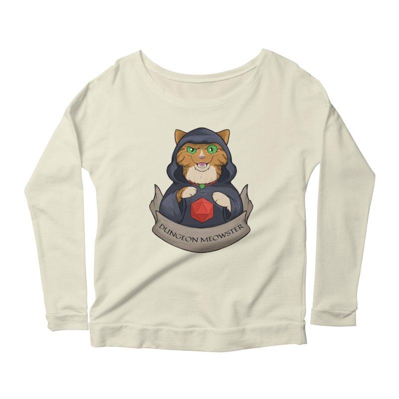 Dungeon Meowster Tabby Kitty Women's Scoop Neck Longsleeve T-Shirt by DnDoggos's Artist Shop