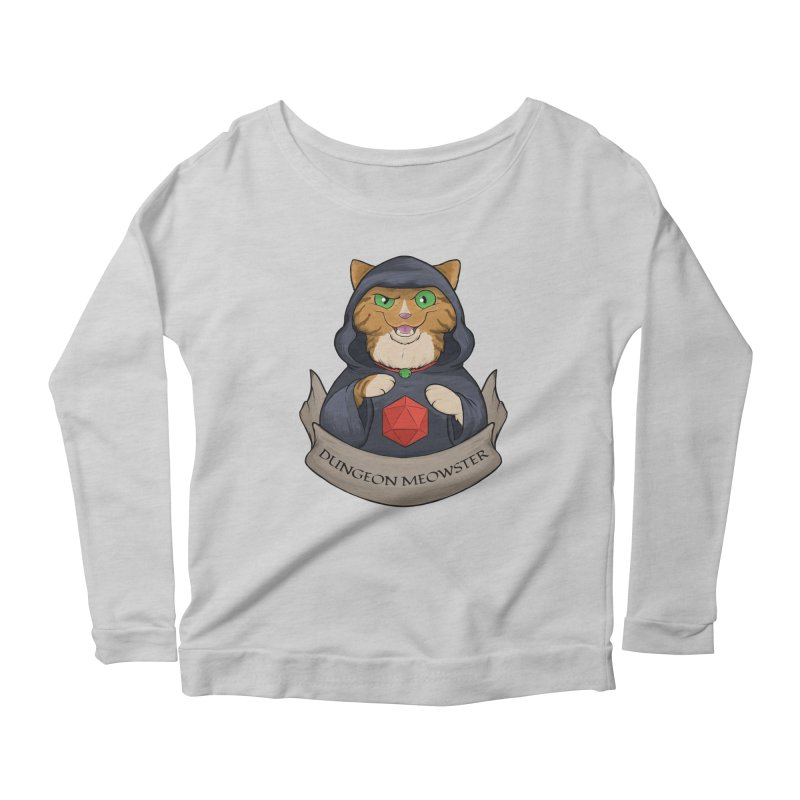 Dungeon Meowster Tabby Kitty Women's Scoop Neck Longsleeve T-Shirt by DnDoggos's Artist Shop