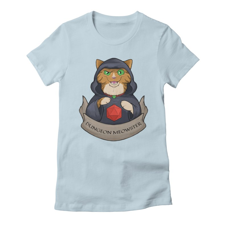 Dungeon Meowster Tabby Kitty Women's Fitted T-Shirt by DnDoggos's Artist Shop