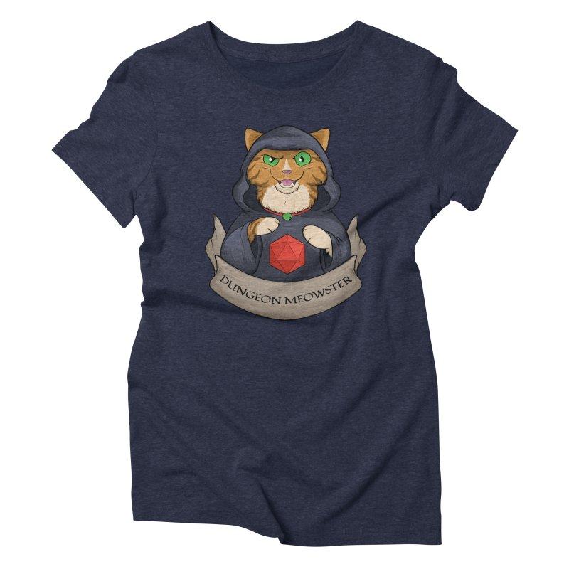 Dungeon Meowster Tabby Kitty Women's Triblend T-Shirt by DnDoggos's Artist Shop