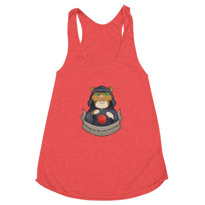 Dungeon Meowster Tabby Kitty Women's Racerback Triblend Tank by DnDoggos's Artist Shop