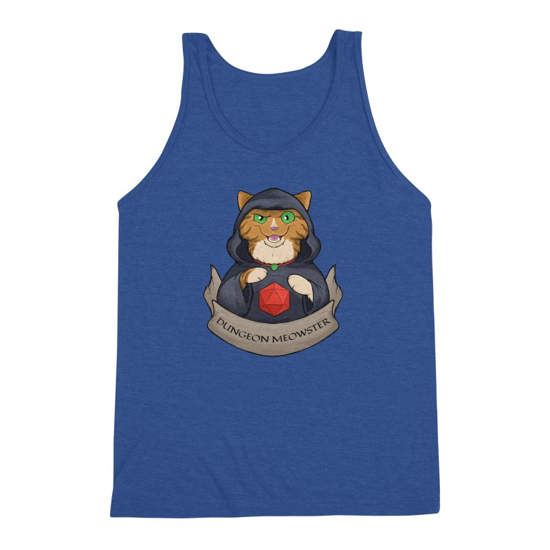 Dungeon Meowster Tabby Kitty Men's Triblend Tank by DnDoggos's Artist Shop
