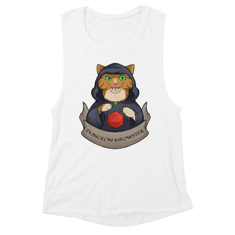 Dungeon Meowster Tabby Kitty Women's Muscle Tank by DnDoggos's Artist Shop
