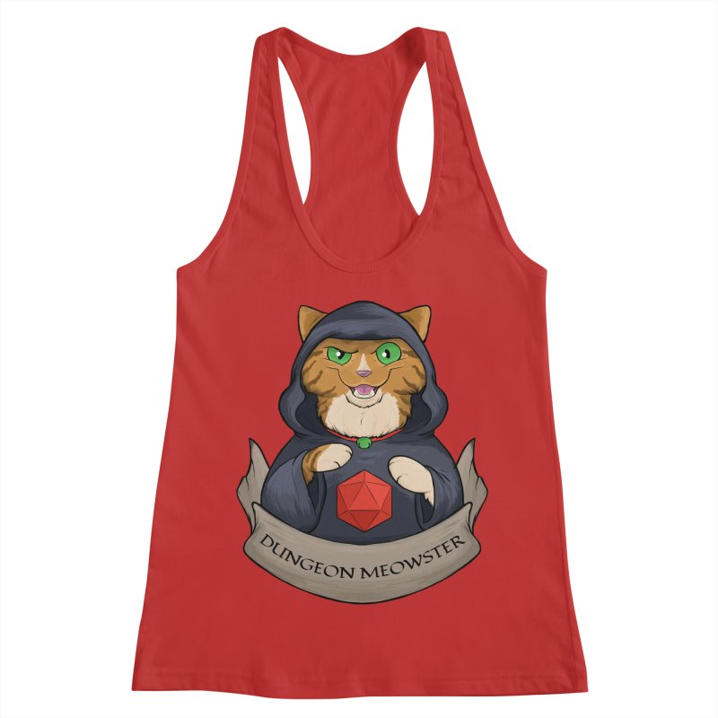 Dungeon Meowster Tabby Kitty Women's Racerback Tank by DnDoggos's Artist Shop