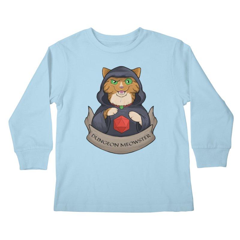 Dungeon Meowster Tabby Kitty Kids Longsleeve T-Shirt by DnDoggos's Artist Shop