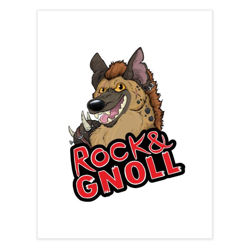 Rock & Gnoll Home Fine Art Print by DnDoggos's Artist Shop