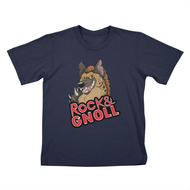 Rock & Gnoll Kids T-Shirt by DnDoggos's Artist Shop