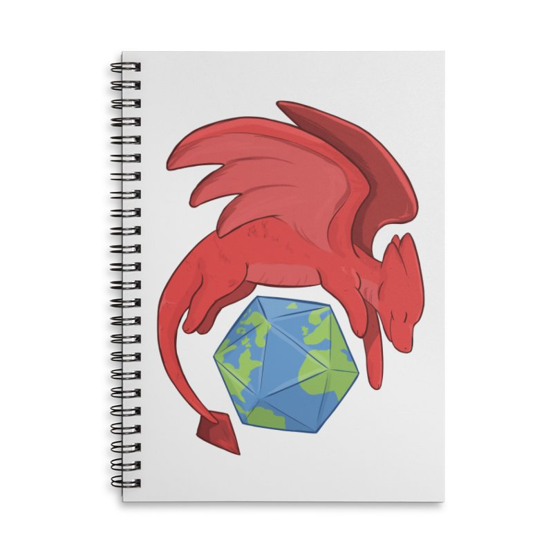 DnD Earth Day Accessories Lined Spiral Notebook by DnDoggos's Artist Shop