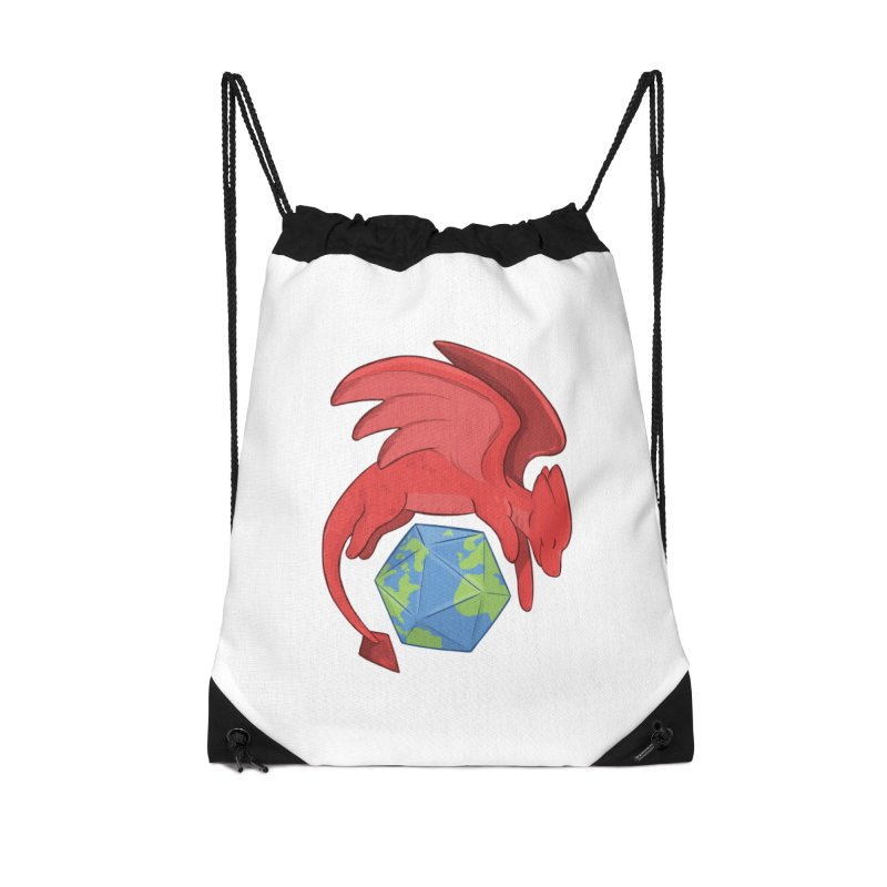 DnD Earth Day Accessories Drawstring Bag Bag by DnDoggos's Artist Shop