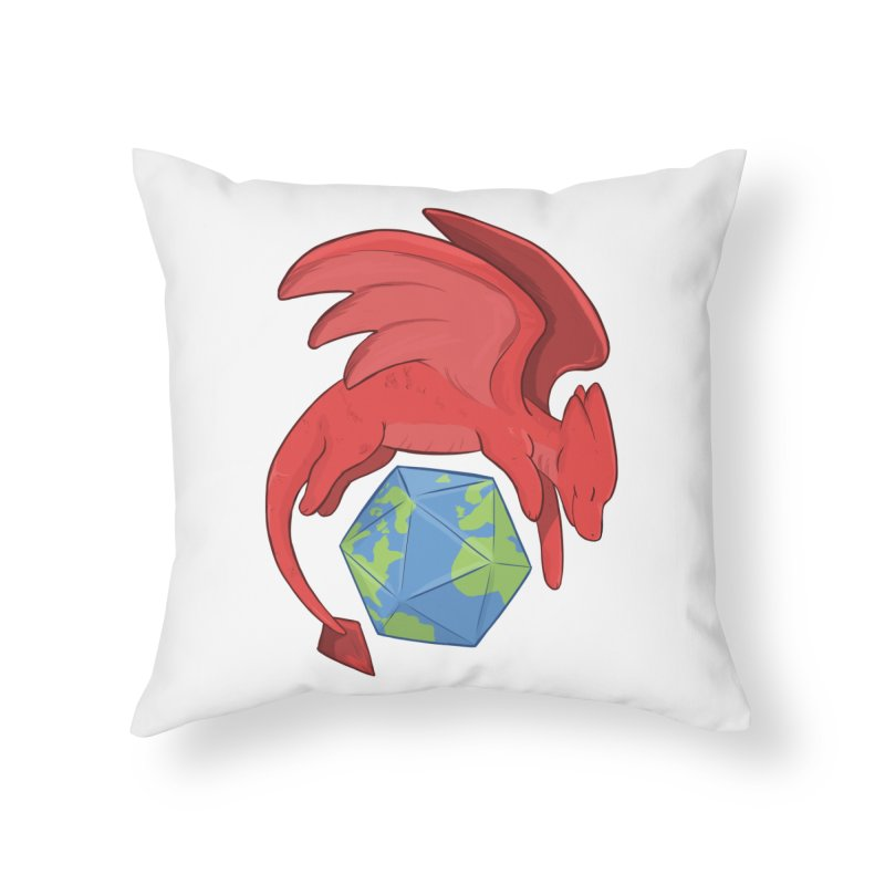 DnD Earth Day Home Throw Pillow by DnDoggos's Artist Shop