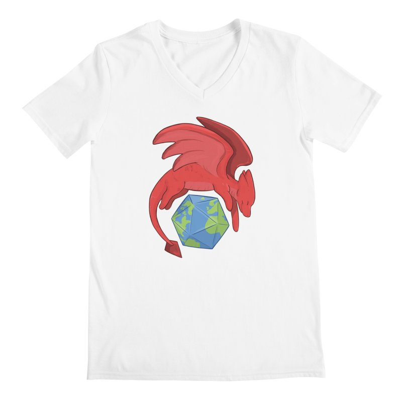 DnD Earth Day Men's V-Neck by DnDoggos's Artist Shop