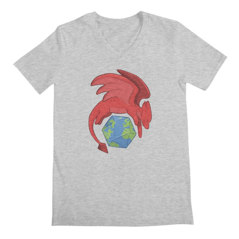 DnD Earth Day Men's Regular V-Neck by DnDoggos's Artist Shop