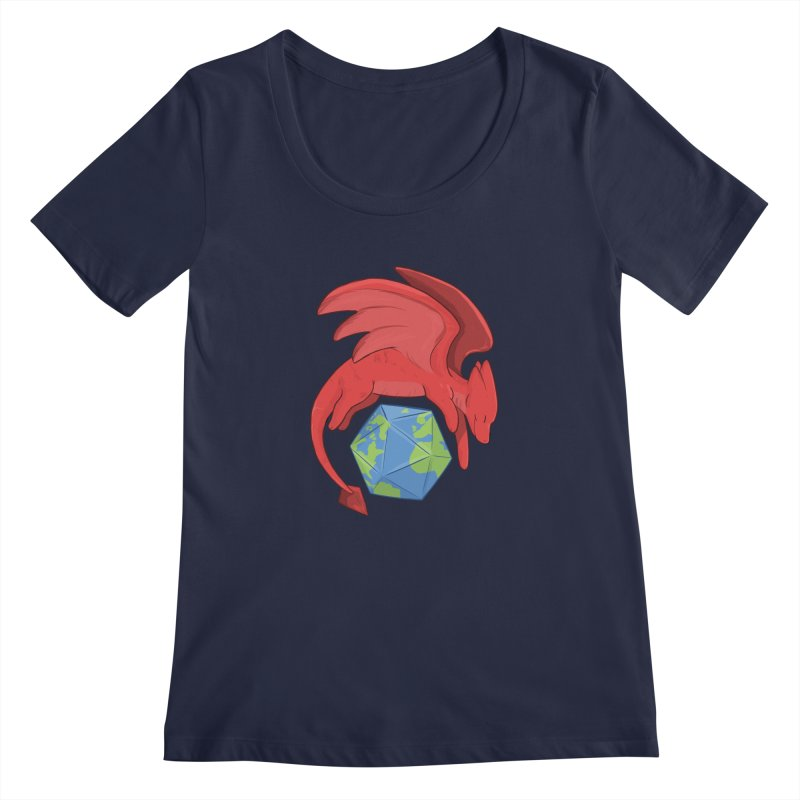 DnD Earth Day Women's Regular Scoop Neck by DnDoggos's Artist Shop