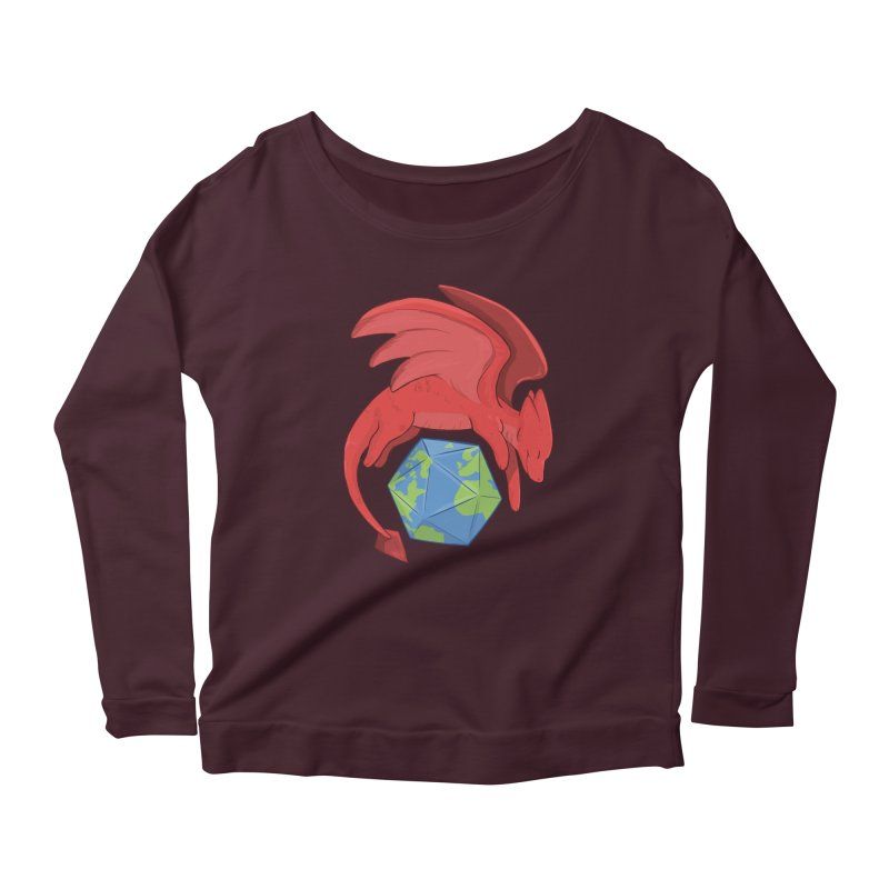 DnD Earth Day Women's Scoop Neck Longsleeve T-Shirt by DnDoggos's Artist Shop