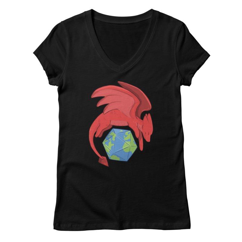 DnD Earth Day Women's V-Neck by DnDoggos's Artist Shop