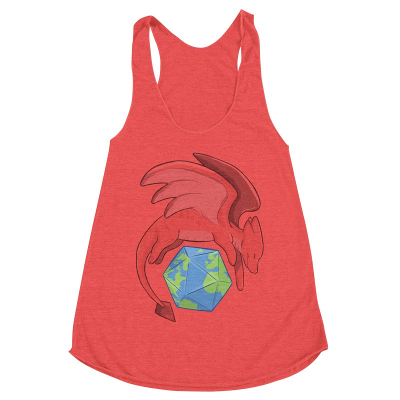 DnD Earth Day Women's Racerback Triblend Tank by DnDoggos's Artist Shop