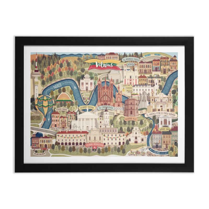 Vilnius, the capital of Lithuania Home Framed Fine Art Print by dnipro's Artist Shop